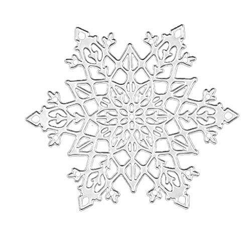 wentingZWT Schneeflocke Weihnachtsstanzform DIY Scrapbook Stempel Papier Karte Prägung Basteln Dekoration -