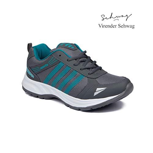 ASIAN Shoes Wonder 13 Grey Firozi Men's Sports Shoes 12 UK/Indian