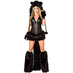 Disfraz de Gato Mujer disfraces animal cosplay catsuit para Halloween Carnaval