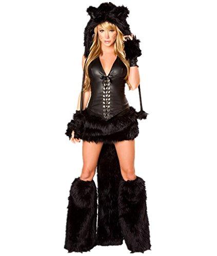 Imagen de disfraz de gato mujer disfraces animal cosplay catsuit para halloween carnaval