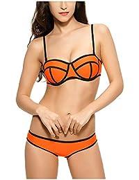 7b4e6398ec5bd Kaamastra Women s Push Up Strapless Bikini Swimwear(KA LB16226