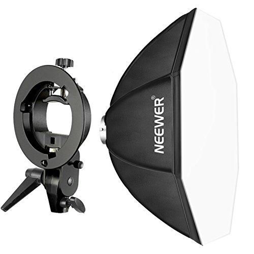 Neewer 80x80 Zentimeter Achteckige Speedlite Softbox mit S-Typ Halterung, Bienenstock Halterung für Nikon, Canon, Sony, Pentax, Olympus, Panasonic und andere Strobe Blitze Foto Studio Strobe Light