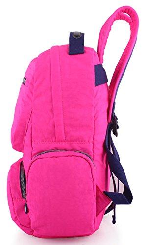 Keshi Nylon Niedlich Schulrucksäcke/Rucksack Damen/Mädchen Vintage Schule Rucksäcke mit Moderner Streifen für Teens Jungen Studenten Mehrfarbig 2