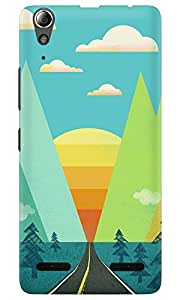 Dreambolic A SUNSET GRAPHIC Lenovo A6000 Back Cover