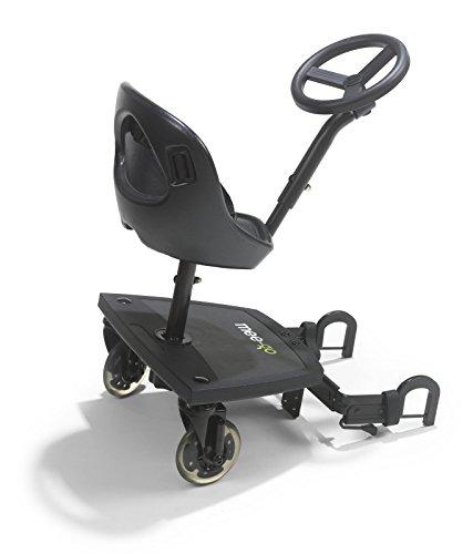 mee-go Sit N Ride X Rider Universal Buggy Ride On Board Con Asiento Y Volante para adaptarse a todos los cochecitos, cochecitos y carritos
