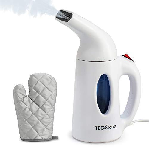 TEQStone Steamer Dampfglätter Mini Bügeleisen, Reisebügeleisen Dampfbürste für Kleidung, 70 Sekunden Schnell Aufheizen, mit Hitzebeständigem Handschuh -