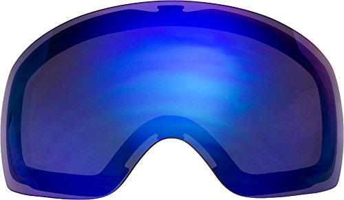 Lentes de repuesto para Oakley Flight cubierta XM gafas para la nieve, Azul espejo