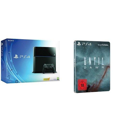 PlayStation 4 - Konsole (500GB) + Until Dawn - Special Steelbook Edition