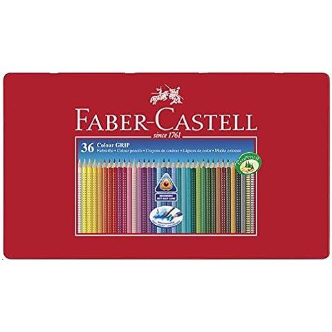 Faber Castell 112435 - Caja metal con 36 lápices acuarelables y grip
