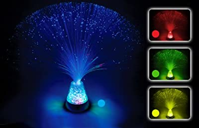 Fibre Optic Lamp Colour Changing Crystal Base - 4 Colours - 13 Inch Mood Novelty Lamp by Playlearn produced by Playlearn - quick delivery from UK.