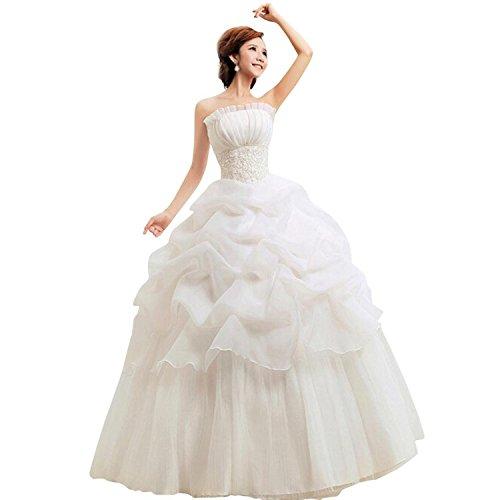 LATH.PIN Damen Chiffon Abschlussball Prinzessin Hochzeitskleider Abendkleider Brautkleider (asiatische XXL, (Kostüm Braut)
