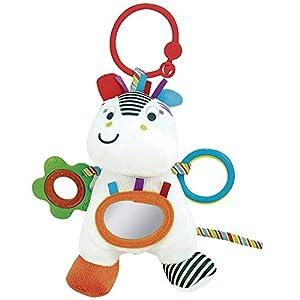 winfun Sonajero con Aros la Cebra Zippy, Little Pals Color Blanco y Negro CPA Toy Group 7300120