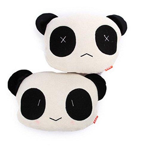 Arpoador 1 x Mignon Dessin animé Panda en Peluche Auto Tour de Taille Coussin de siège de Voiture Cou Reste Oreiller (aléatoire)