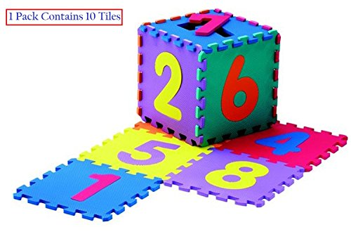 10 mm Thick Shockproof EVA Kids Interlockable Puzzle Foam Floor Mats - Join to Make Any Shape as per Your Space Availability