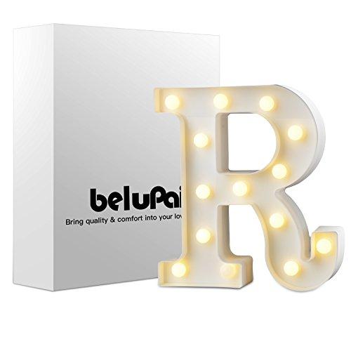 LED Brief Beleuchtung Alphabet Buchstabe Kunststoff Dekorationen Nachtlichter für Party Hochzeit Empfänge Ferienhaus & Bad Bridal Bar Décor (R)
