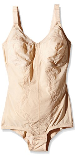 Playtex 2859 kzg korselett d-cup, body modellante, donna, beige, 6d it