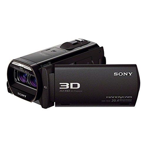 Sony HDR-TD30VEB HD Flash Camcorder (1920 x 1080 Pixel, G-Objektive mit 12-fach Zoom in 3D, 8,9 cm (3,5 Zoll) Display, Weitwinkel mit 29,8mm in 2D/33,4mm in 3D) schwarz