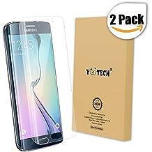 Galaxy S6 Edge Protector de pantalla, Yootech [2 Unidades] [anti-bubble] [HD Clear] curvada Edge To Edge Protector de pantalla para Samsung Galaxy S6 Edge, garantía de por vida