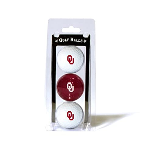 NCAA Oklahoma Sooners 3 Golf Ball Pack