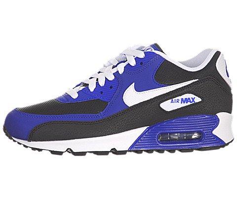 Nike Jungen Air Max 90 (GS) Laufschuhe, Schwarz / Weiß / Blau (Schwarz / Weiß-Hyper Blau-Weiß), 37 1/2 EU