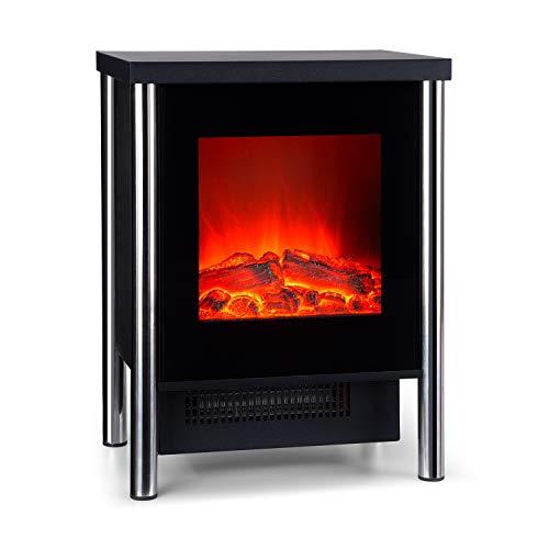 Klarstein copenhagen - caminetto, camino elettrico, 2 livelli di riscaldamento, 950/1900w, termostato, effetto fiamma, vetro frontale, termostato, protezione surriscaldamento, nero