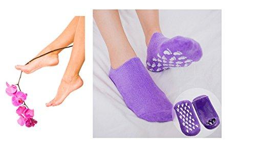 Feuchtigkeitsspendende Gel Socken SPA Socken Lila