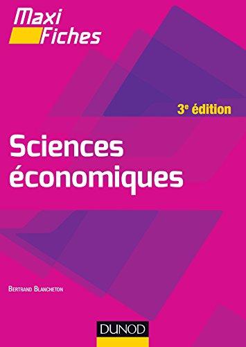 Maxi fiches de Sciences économiques - 3e éd.