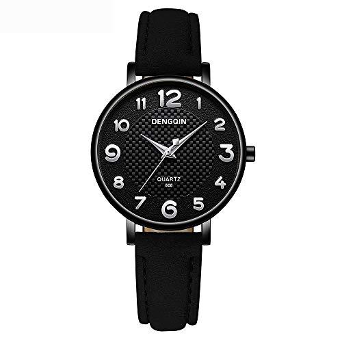 Neuer Trend  Klassisch Damen-Armbanduhr, Frauen Fashion Damenuhr Uhren Ultradünn Analog Quarz mit Leder Armband LEEDY