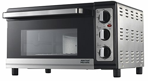 American Micronic - 25 Liters Imported Stainless Steel Oven Toaster Griller (otg), 230v Ac, 1500w, 60 Minutes Timer, Variable Temperature Control. Free Baking Tray, Wire Rack- Ami-otg-25ldx-ss