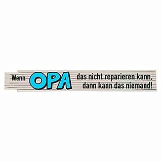 Zollstock mit Spruch: Wenn Opa das nicht reparieren kann....