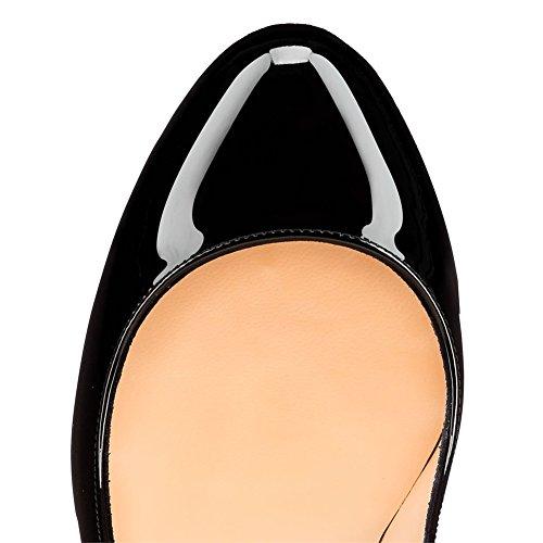 MERUMOTE - Scarpe con Plateau donna Black-Patent
