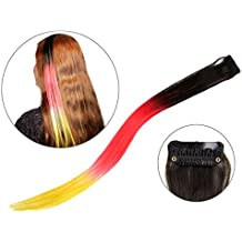 Extension clip per capelli nei colori della bandiera di Germania
