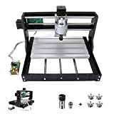 DorisDirect Upgrade Version CNC 3018 Pro GRBL Control DIY Mini CNC Machine, Working Area 300 * 180 * 45mm, with 5mm ER11 PCB +10PCS 3.175MM CNC Router Bits + 4 Sets CNC Plates