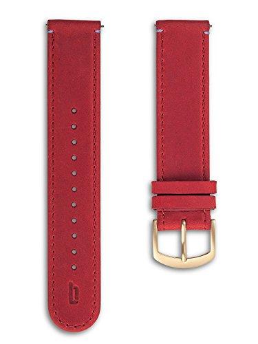 Lilienthal Berlin - Made in Germany - Wechselarmband, vegetabil gegerbtes Leder L1 (Farbe: dunkelrot