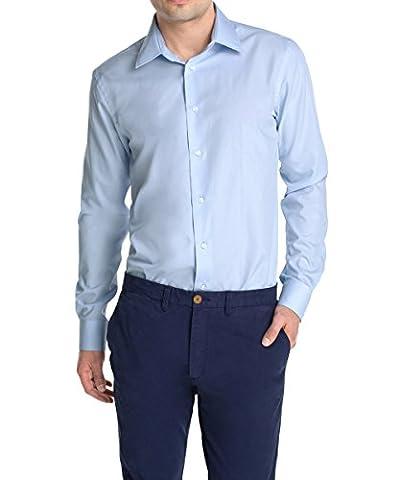 ESPRIT Collection Herren Slim Fit Businesshemd 995EO2F901, Gr. Kragenweite: 39 cm (Herstellergröße: 39-40), Blau (CLEAR BLUE