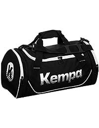 Kempa Bolsa de deporte grande 65x 35x 33cm, incluye pelota Red, negro/blanco