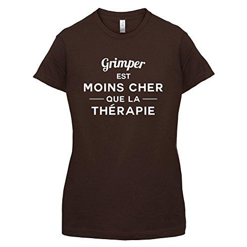 Grimper est moins cher que la thérapie - Femme T-Shirt - 14 couleur Marron Foncé