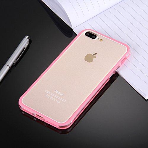 Hülle für iPhone 7 plus , Schutzhülle Für iPhone 7 Plus Ultrathin Superlight Transparente PP Schutzhülle, ,hülle für iPhone 7 plus , case for iphone 7 plus ( Color : Dark Blue ) Magenta