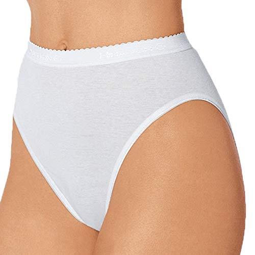 Nina von C. 5er Pack Damen Midislips I Slipboutique I Hüftslip in Weiß aus 100% supergekämmter Baumwolle I Hochwertige Damenslips I Gr. 46