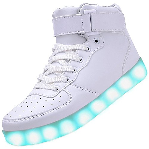 LED Scarpe High-Top USB Carica Lampeggiante Luminosi