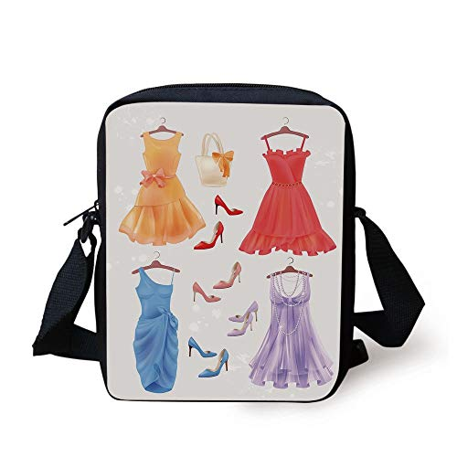 Bow Accent Heels (CBBBB Heels and Dresses,Set of Festive Attire for Party Fashion Female Cocktail Dresses on Hanger,Multicolor Print Kids Crossbody Messenger Bag Purse)