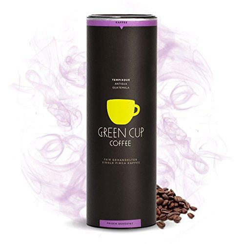 Green Cup Coffee Kaffee Tempixque Welt - Hochlandkaffee aus Guatemala - sortenreine Kaffeebohnen in Premium Qualität - Bohnen mit starken Aromen - Ideal für Vollautomat Maschine - 454g ganze Bohne