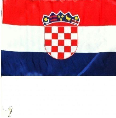1 x Autofahne Autoflagge 45 x 30 Kroatien Auto Fahne Fahnen Flagge Flaggen EM 2016 mit Halterung