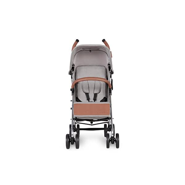 Ickle Bubba Baby Discovery Stroller| Lightweight Stroller Pushchair | Compact Fold Technology for Easy Transport and Storage | UPF 50+ Extendable Hood | Grey/Silver Ickle Bubba ONE-HANDED 3 POSITION SEAT RECLINE: Baby stroller suitable from 6 months to 22kg. 4 years old; features rain cover UPF 50+ RATED ADJUSTABLE HOOD: Includes a peekaboo window to keep an eye on the little one; extendable hood-UPF rated-to protect against the sun's harmful rays and inclement weather LIGHTWEIGHT DESIGN WITH COMPACT FOLD TECHNOLOGY: Easy to transport, aluminum frame is lightweight and portable-weighs only 7kg; folds compact for storage in small places; carry strap and leather shoulder pad included 3