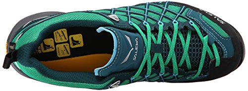 Salewa Ws Wildfire S Gore-Tex, Chaussures dEscalade Femme Multicolore (Cypress/river Blue)