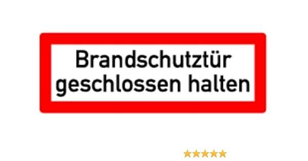 Schild Alu Brandschutzt/ür geschlossen halten 105x297mm