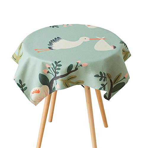 TOYM- Tessuto di cotone fresco giardino Uccello Tavolo Bugaboo Tavolino panno tovagliolo di tè dipinto (Tovagliolo Di Uccello A Mano)