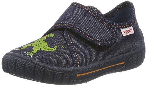 Superfit Jungen BILL Niedrige Hausschuhe, Blau (Blau 81), 24 EU (Jungen Slipper Schuhe)