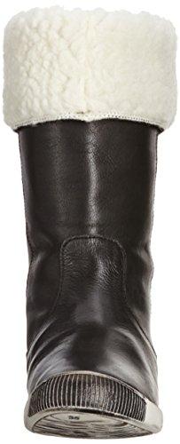 Softinos Ida cashmere wool Damen Halbschaft Schlupfstiefel Schwarz (057 black)