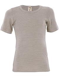 Living Crafts Kurzarm-Shirt 116, grey/natural striped